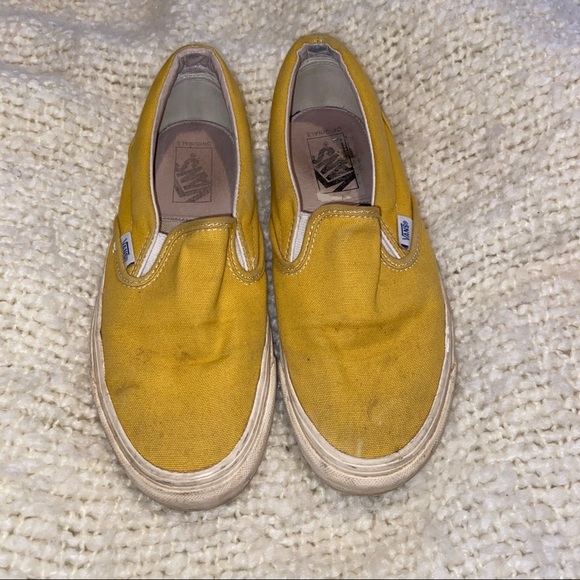 Rare Mustard Yellow Slip On Vans | Poshmark